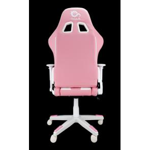 TALIUS Silla Dragonfly gaming blanco/rosa 2D, butterfly, base nylon, ruedas 60mm nylon, gas clase 4, - Imagen 4