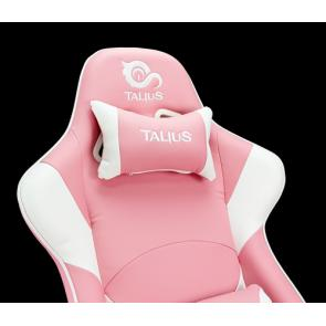 TALIUS Silla Dragonfly gaming blanco/rosa 2D, butterfly, base nylon, ruedas 60mm nylon, gas clase 4, - Imagen 7